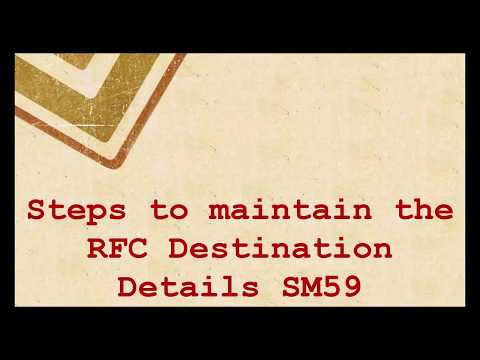 SAP Basis Tutorials: How to create an RFC Connection in SAP