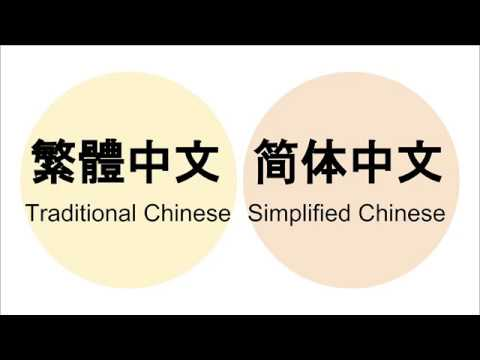 Lesson 1 - Should I Learn Traditional Chinese or Simplified Chinese?
