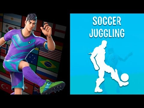 NEW SOCCER EMOTES LEAKED! Soccer Juggling, Red Card & MORE! (FORTNITE LEAKED EMOTES GAMEPLAY)