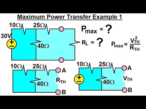 Electrical Engineering: Ch 4: Circuit Theorems (28 of 35) Maximum Power Transfer Ex. 1