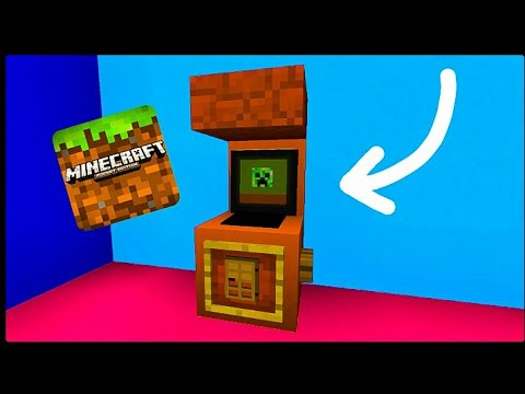 Minecraft PE | How to Make a Working Arcade Machine