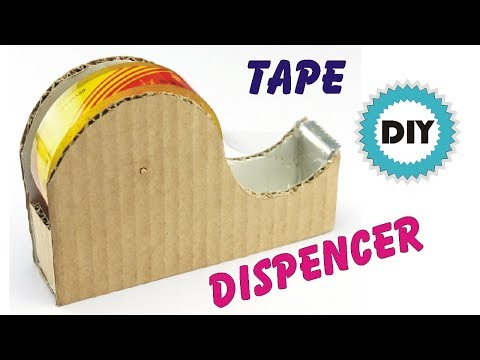 How to make Tape cutter Machine using Cardboard