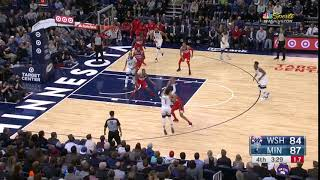 Otto Porter covers Andrew Wiggins, Jimmy Butler on the same play