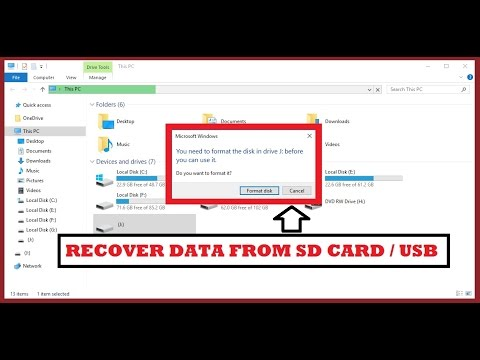 Recover Data From Corrupted SD Card or USB Flash / Pen Drive [ Fast & Easy Way ] 2017