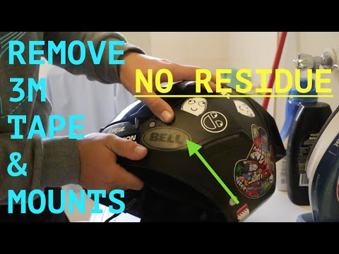How to   Remove 3M Tape & Action Camera Mounts   Go Pro, Drift, Sony