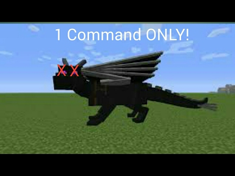 Minecraft PE : How to kill the Ender Dragon with 1 command!