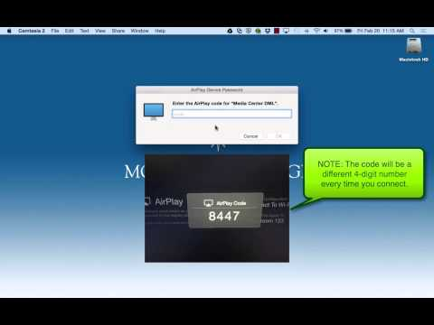 Using AirPlay with your MacBook Pro