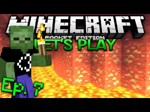 Minecraft PE Survival Let's Play Ep. 7 - Diamonds!