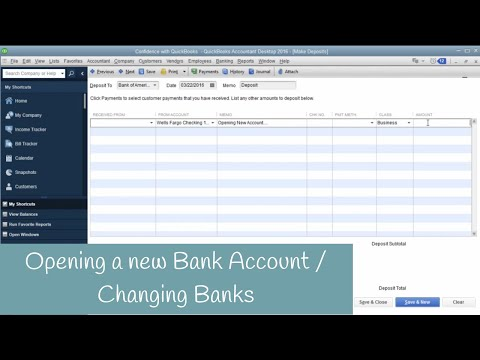 Add a New Bank Account in QuickBooks, Switching Banks