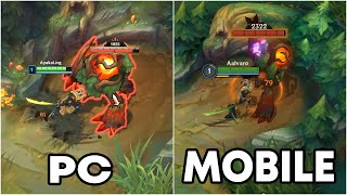 League of Legends Wild Rift vs League of Legends Summoner's Rift (PC vs Mobile)