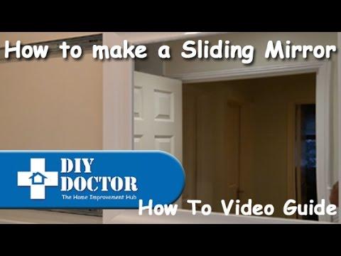 How to make a sliding bathroom mirror