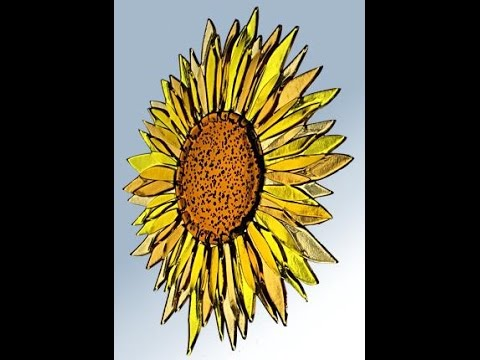 Fused Glass Sunflower for Window or Garden