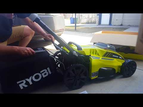Unboxing and Setup of Ryobi RY40180 40V Electric Lawn Mower