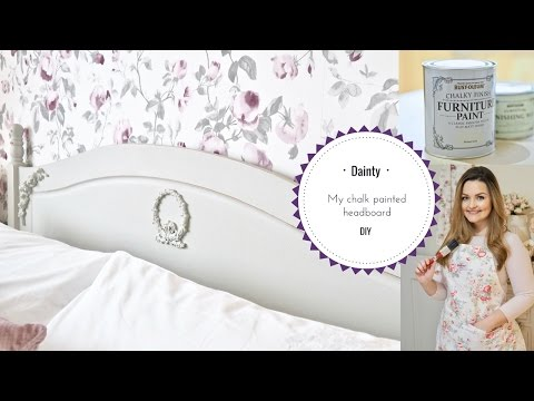 Shabby chic bed makeover using chalk paint by Rust-oleum