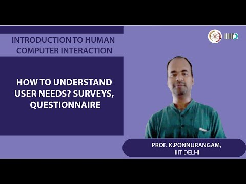 Lecture 11 - How to understand user needs? Surveys, Questionnaire