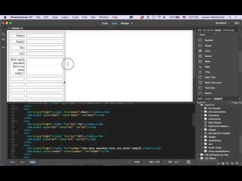 Dreamweaver form setup tutorial
