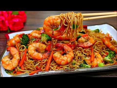 Shrimp and Vegetable Stir Fry Noodles Recipe (BETTER THAN TAKE OUT Shrimp stir fry noodles)