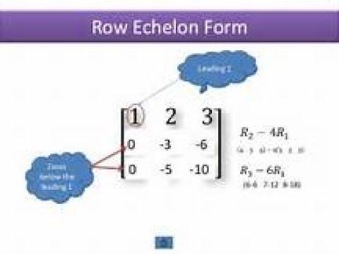 Row Echelon and Reduced Row Echelon Forms(URDU/HINDI)[ Mathematical World ]
