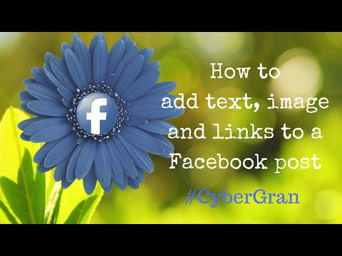 6. How to add text, images and a weblink to a Facebook post