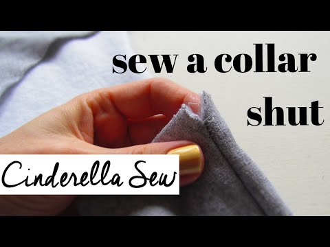 How to fix a shirt collar or sweater - Sew fraying shoulder seams - Easy way to repair collars