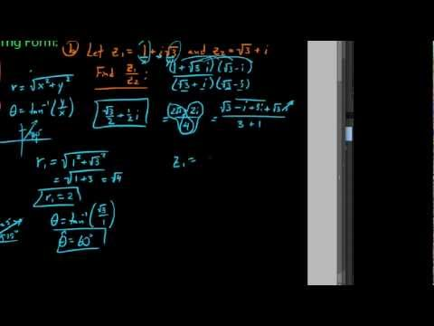 Finding quotients of complex numbers written in trig form