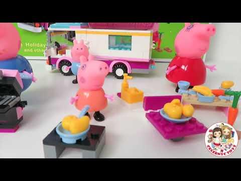 peppa pig blocks mega house construction set juego de construcciones playset con mam pap. Black Bedroom Furniture Sets. Home Design Ideas
