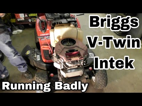 How To Fix A Briggs and Stratton V-Twin Intek Engine That Is Running Badly (Bent Push Rod)