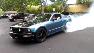 Mustang gt burn out