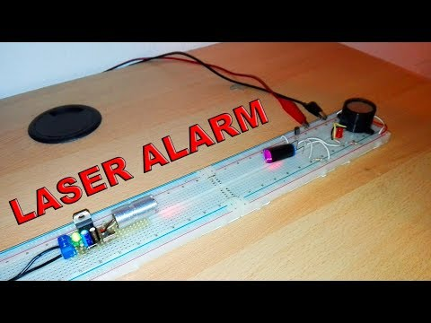 Simple Laser Alarm with BC546 (Electric diagram in video) - By STE