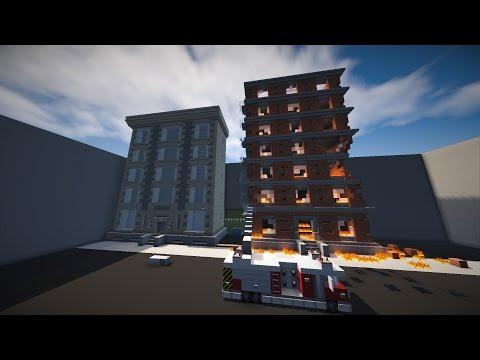 Minecraft: Let's Build - Movie Studios - Fire set part 1.