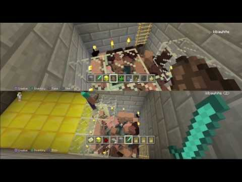 Minecraft PS3 - SPAWN PIT (playstation 3 edition) Multiplayer Gameplay