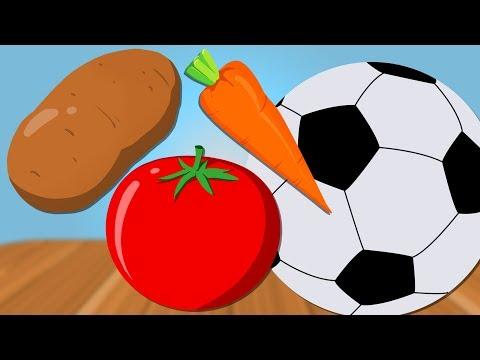 Soccer Ball |  Learn Vegetables | Hammer Game | Kids Video