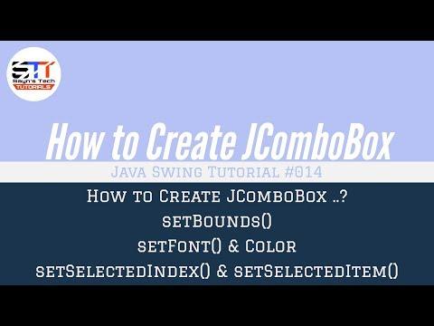 JComboBox Bounds, Font, Methods | Java Swing Tutorial #014