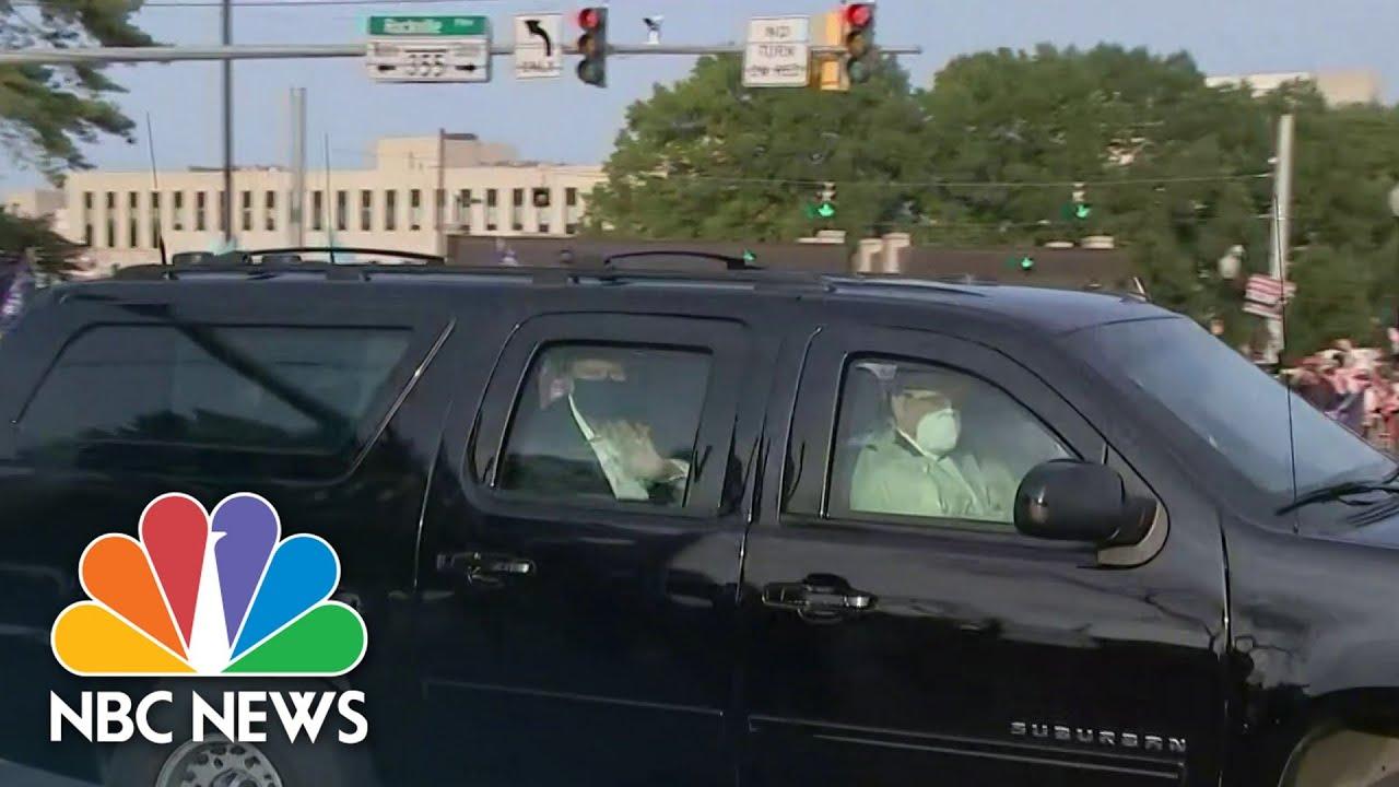 Secret Service Drove Trump Around In Protective Gear During Covid Diagnosis | NBC News NOW