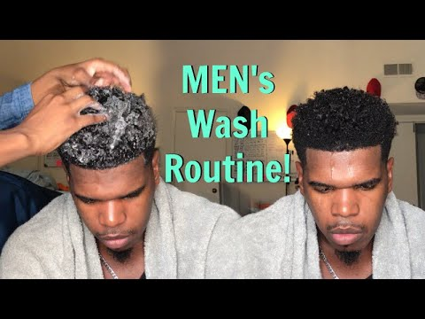 Simple Wash Routine for Natural Men (No Extras!)|Short-Medium Length Hair