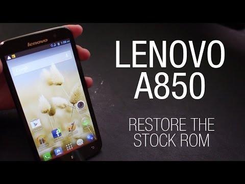 Lenovo A850 - Restore the ROW stock ROM