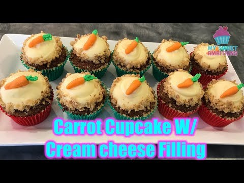 Carrot Cake Cupcake with Cream Cheese Icing