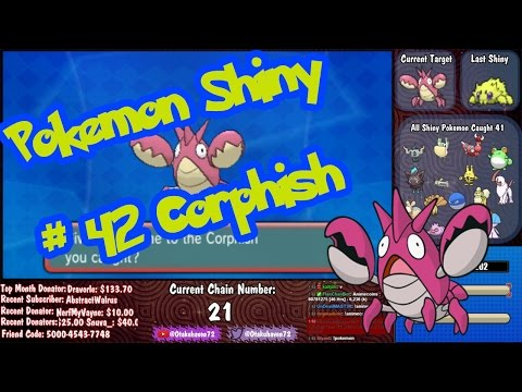 Live Shiny Corphish 21 ChainFish - Pokemon Omega Ruby & Alpha Sapphire