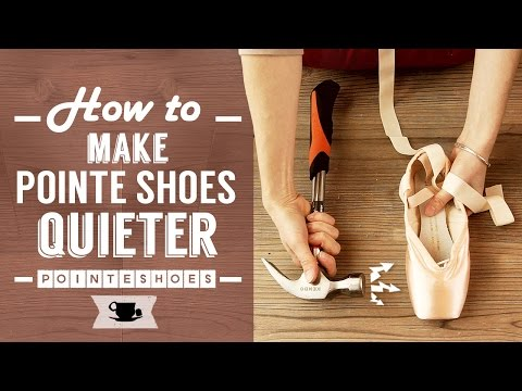 How To Make Pointe Shoes Quieter for the Stage | Lazy Dancer Tips
