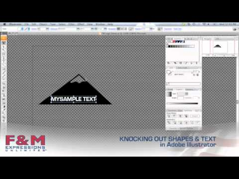 Knocking Out Shapes & Text in Adobe Illustrator