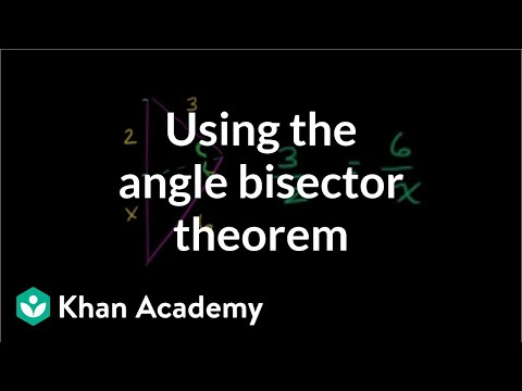 Angle bisector theorem examples | Geometry | Khan Academy