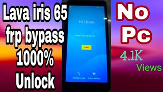 All Iris 65 FRP Google Bypass Remove Android  8 0 1 100