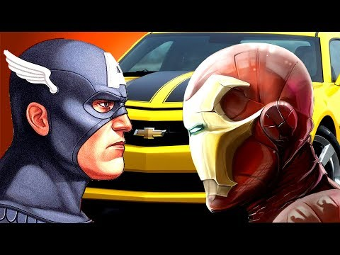 [EXPERIMENT] MARVEL AVENGERS VS BUMBLEBEE [CAR FROM TRANSFORMERS MOVIE]