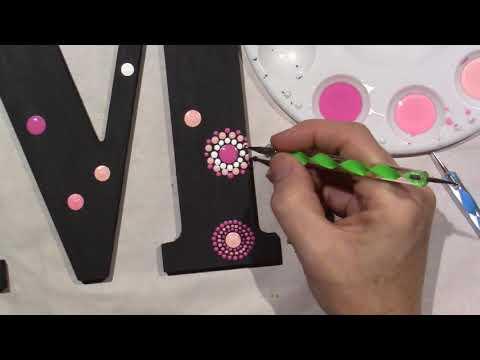 Dot Painting; Letter M