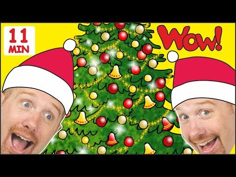 Christmas Tree Song for Children + MORE Stories for Kids from Steve and Maggie | Wow English TV