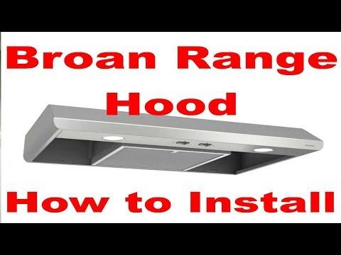 Broan Range Exhaust Hood Installation