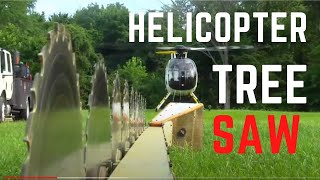 Helicopter Tree Sawing In The MD 500