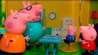 Download Видео про игрушки свинка Пеппа - болит зуб. Игрушечные мультики. Video