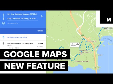 Google Maps new elevation feature