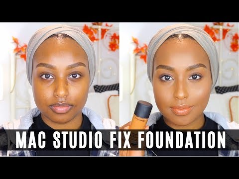 TRYING MY FIRST MAC FOUNDATION! | Studio Fix Fluid NC50 | Aysha Abdul